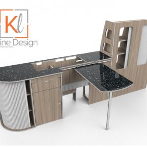 Lwb 120cm Coastline Kit Kitline Design T6 Campervan Conversion Kit